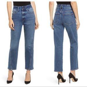 NWOT Good American Straight Twisted Seam Jean 18